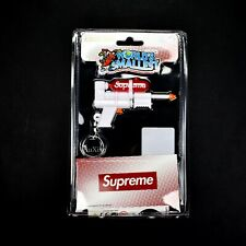 NWT Supreme NY Red White Box Logo Super Soaker Water Gun Keychain SS19 AUTHENTIC