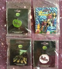 4 BEATLES PINS OFFICIAL LICENSED USA SELLER FAST SHIPPING Yellow submarine abby