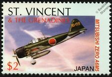 WWII IJN Mitsubishi A6M-5 ZERO-SEN Japanese Fighter Aircraft Stamp