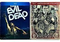 Evil Dead 1&2 Steelbook Lot (Blu-ray/DVD/Digital) Factory Sealed