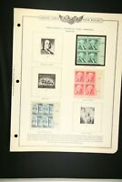 US Stamp 1c Washington 2c Jefferson 2 1/2c Bunker Hill 1954-1959 Sleeved A20G