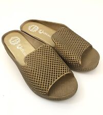 Women JEFFREY CAMPBELL Havana Last Sz 7 Gold Lattice Womens Slides Sandals Shoes