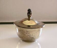 TIFFANY & CO Makers Rose Bud Lidded Dish Sterling Silver