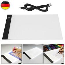 A4 LED Zeichenbrett Zeichnung Tracing Grafiktablett Dimmbar Lightpad USB Kabel