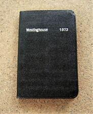 Vintage 1973 WESTINGHOUSE Pocket Diary / Notebook / Calendar