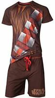 Star Wars Standalone 2 Pyjama Han Solo - Chewbacca Mens Shortama Brown-M