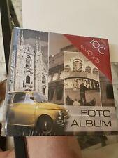 Album foto Fiat 500 capienza 100 foto 10 x 15 nuovo raccoglitore