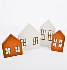 Figuritas de Navidad casas de madera
