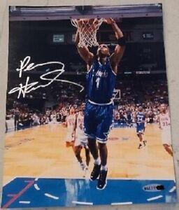 UDA Penny Hardaway Signed Orlando Magic 8x10 Photo Breakaway Slam Autograph