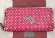 Radley Large Purse 100% Leather With Dust Bag Pink