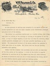 OLIVER No.2 & PEERLESS TYPEWRITER LETTERHEAD Antique Schreibmaschine Vtg