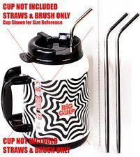 "2 Big Gulp 11.5"" JUMBO Stainless Steel Straw for 64 oz LONG Wide Mug STRAWS ONLY"