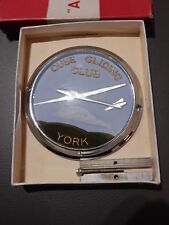 gliding glider CAR RADIATOR BADGE OUSE CLUB YORKSHIRE  VINTAGE  linton  york raf