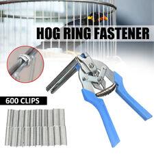 1Pcs herramienta de Alicates de Anillo de cerdo y 600Pcs M clips grapas de pollo Malla jaula de alambre de esgrima