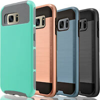 For Samsung Galaxy S7 Active Edge Phone Case Cover + Tempered Glass Protector