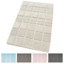 Teppich Badezimmer Zimmer 100% Baumwolle nach Unten Bett Weich Binde Farben Past
