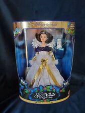 Barbie Doll Holiday Princess Snow White w/Bunny Christmas Ornament Disney 1998