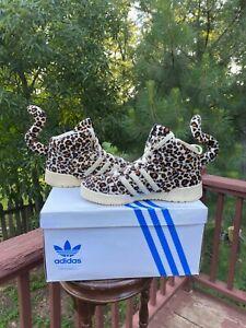 US Size 9  Adidas Jeremy Scott JS Leopard Tails AUTHENTIC V24536