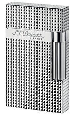 S.T. Dupont Ligne 2 Lighter Silver Plated Diamond Head (16184)