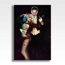 "JOKER & HARLEY QUINN CANVAS DC Suicide Squad Poster Wall Art 30""x20"" CANVAS"