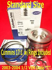 Dodge CUMMINS 5.9 5.9L 17:1 MAHLE PISTON Standard 2003-2004.5 w/Rings