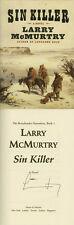 Larry McMurtry SIGNED AUTOGRAPHED Sin Killer HC 1st Ed/1st Lonesome Dove RARE