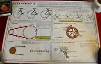 Cartel Escolar Rossignol N º 25/26 La Bicicleta Movimiento Rotación Trans