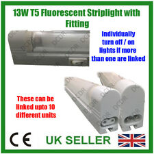 "Under Cupboard 13W T5 G5 21"" 525mm Fluorescent Tube Striplight Bulb with Holder"