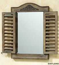 Wall Mirror Brown Window Shutters Mirror Wood Baroque Window Shutter New