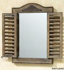 Wall Mirror Braun Window Shutters Mirror Wood Baroque Window Shutter New