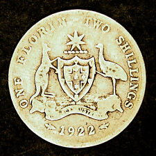 1922  Florin - King George V -  average circulated condition - Sterling Silver