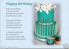 ***** HAPPY 16TH BIRTHDAY ***** - laminated gift ~(sweet sixteen)