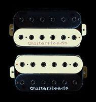Guitar Parts GUITARHEADS PICKUPS HEXBUCKER HUMBUCKER - Bridge Neck SET 2 - ZEBRA