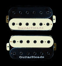 Guitar Parts GUITARHEADS PICKUPS HEXBUCKER HUMBUCKER - Bridge Neck SET 2 - ZEBRA