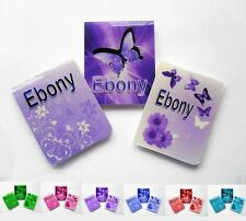 3 Personalised Magnetic Bookmarks - Butterfly Themed Set - Choice of Colour -