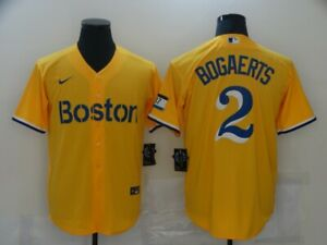 Men's Boston Red Sox Xander Bogaerts Navy 2021 City Connect Jersey Players