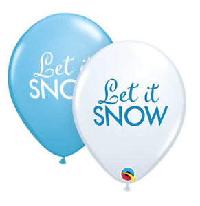 """Christmas Let It Snow 11"""" Latex Balloons - Pack of 5, 10, or 25"""