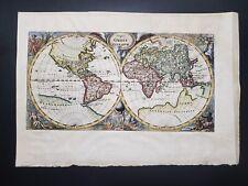 CLUVER Philipp, 1680c double hemisphere world map