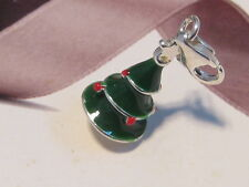 LOBSTER CLIP ON 3D XMAS TREE  CHARM - FIT CARRIER BRACELET