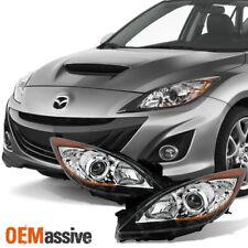 Fit [Halogen Type] 2010 2011 2012 2013 Mazda 3 Projector Headlights Pair Set