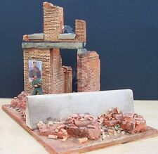 """Dioramas Plus 1/35 """"Last Stand"""" Ruined Building Section w/Barrier (w/Base) DP14"""