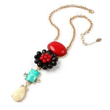 NEW Amrita Singh Gold Resin & Crystal Villandry Pendant Necklace NKC 9946