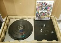 DJ Hero Nintendo Wii Turntable Controller and DJ Hero Video Game Bundle