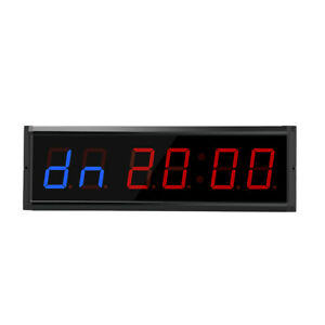 Multi-Function 3 inch LED Digits Interval Timer Count Down/Up Clock for Home Gym