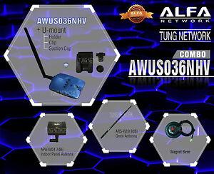 Alfa AWUS036NHV COMBO 802.11n High Power WIRELESS-N USB Wi-Fi adapter