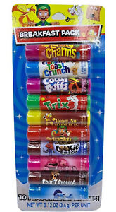 Breakfast cereal flavored 10 pack lip balm set