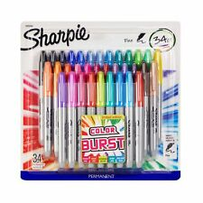 Sharpie Limited Edition Multi Color Burst Fine Point Permanent Markers 34 Count