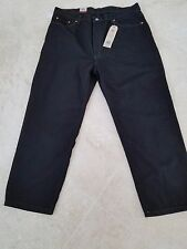 LEVI'S JEANS MEN'S STRAIGHT LEG DENIM BLACK 550 JEANS 36X34 RELAXED FIT $58 NWT