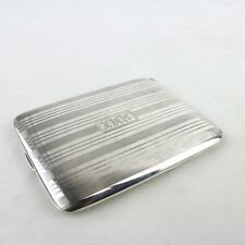 Art Deco Sterling Silver Cigarette Case Carson Pirie Scott Gold Washed Interior