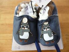 Baby Lederschuhe Krabbelschuhe Hausschuhe Warm 6 -12 Monate NEU Geschenkkarton